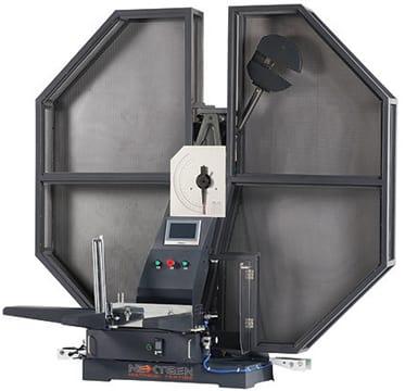 Fully shielded izod impact testing system. Class D impact testing system